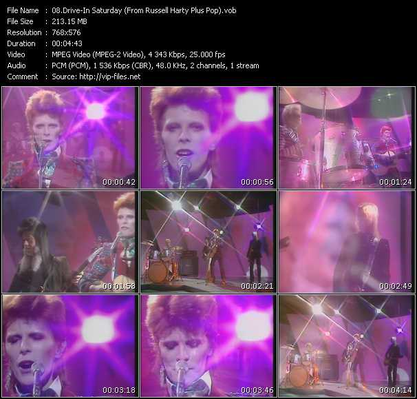 David Bowie - Drive-In Saturday (From Russell Harty Plus Pop)
