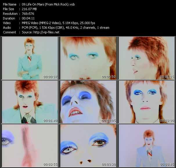 David Bowie - Life On Mars (From Mick Rock)