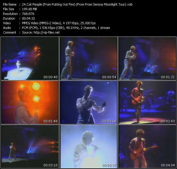 David Bowie - Cat People (From Putting Out Fire) (From From Serious Moonlight Tour)