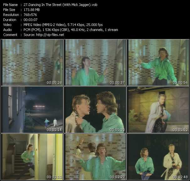 David Bowie And Mick Jagger - Dancing In The Street (With Mick Jagger)