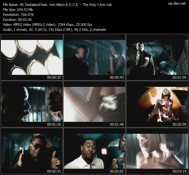 Timbaland Feat. Keri Hilson And D.O.E. - The Way I Are