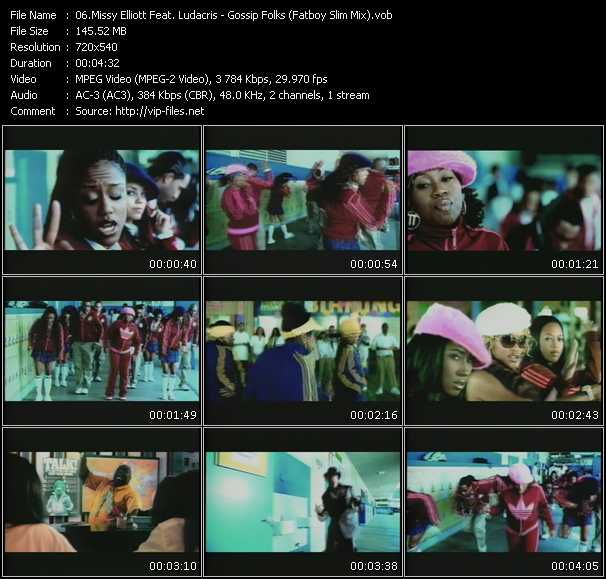 Missy Elliott Feat. Ludacris - Gossip Folks (Fatboy Slim Mix)