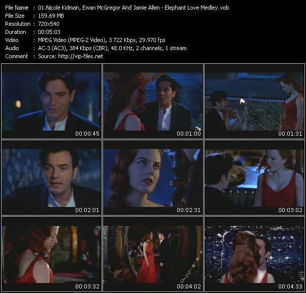 Nicole Kidman, Ewan McGregor And Jamie Allen - Elephant Love Medley