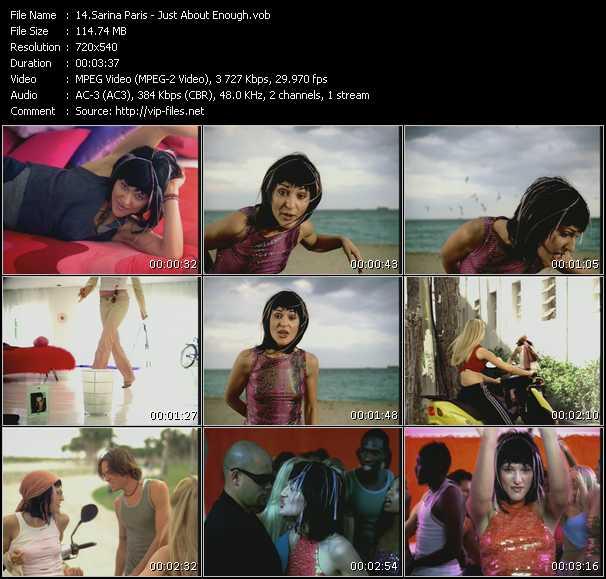 Sarina Paris - Just About Enough
