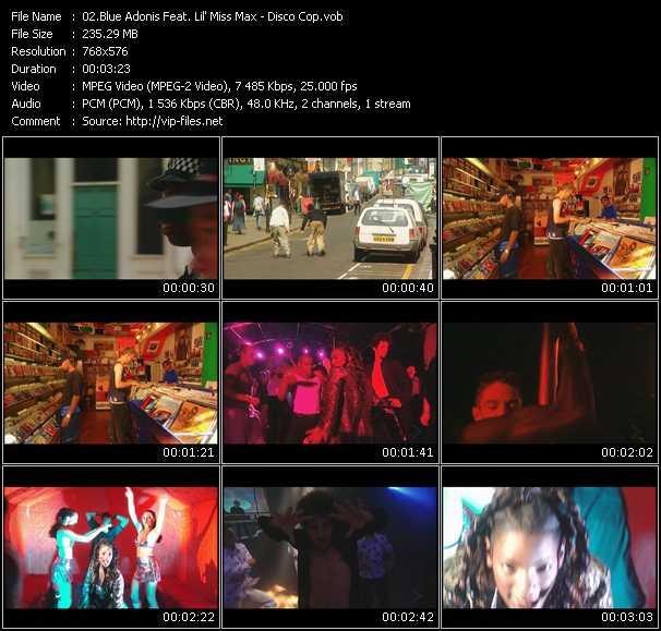 Blue Adonis Feat. Lil' Miss Max - Disco Cop