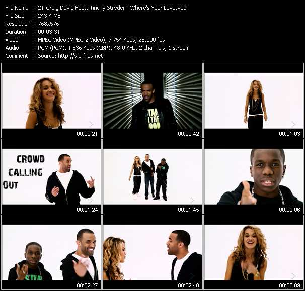 Craig David Feat. Tinchy Stryder - Where's Your Love?