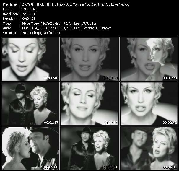 Faith Hill And Tim McGraw - Just To Hear You Say That You Love Me
