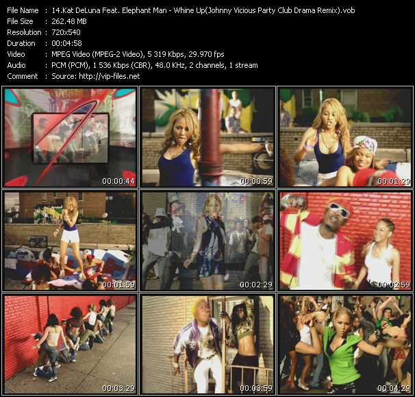Kat DeLuna Feat. Elephant Man - Whine Up (Johnny Vicious Party Club Drama Remix)
