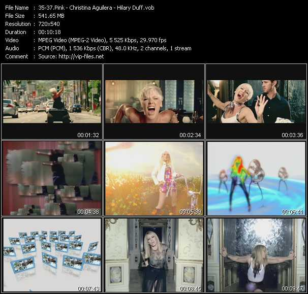 Pink - Christina Aguilera - Hilary Duff - So What - Keep's Gettin' Better - Reach Out