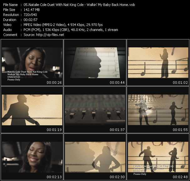 Natalie Cole Duet With Nat King Cole - Walkin' My Baby Back Home