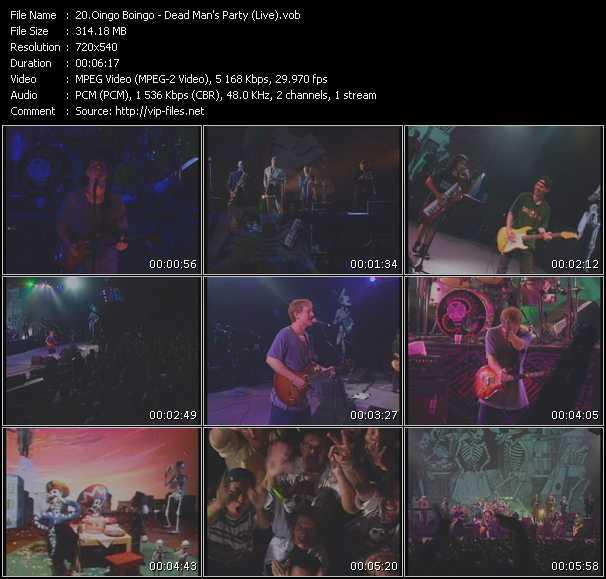 Oingo Boingo - Dead Man's Party (Live)
