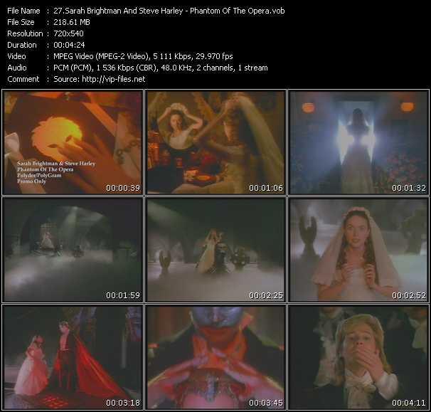 Sarah Brightman And Steve Harley - Phantom Of The Opera