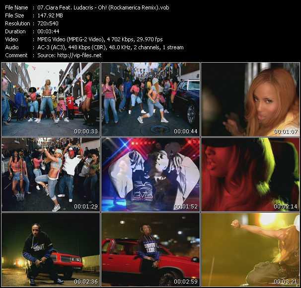 Ciara Feat. Ludacris - Oh! (Rockamerica Remix)