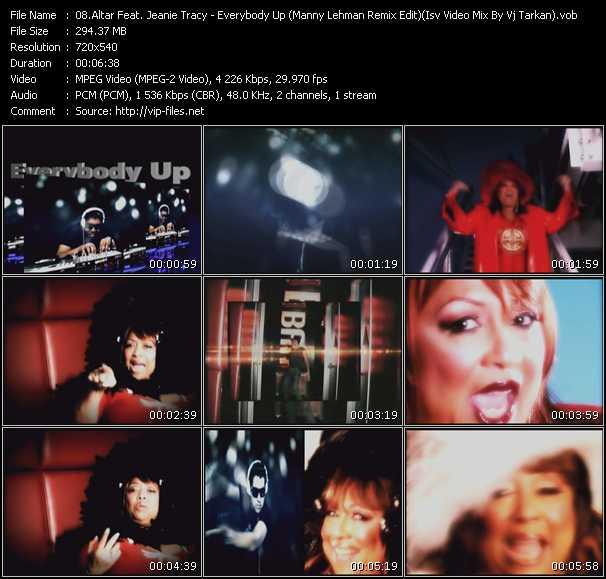 Altar Feat. Jeanie Tracy - Everybody Up (Manny Lehman Remix Edit) (Isv Video Mix By Vj Tarkan)