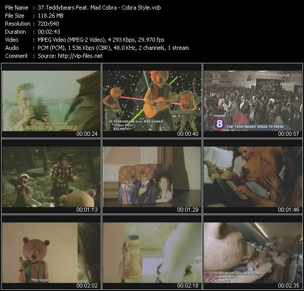 Teddybears Feat. Mad Cobra - Cobra Style