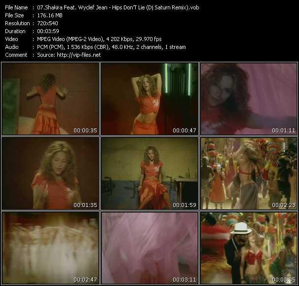 Shakira Feat. Wyclef Jean - Hips Don'T Lie (Dj Saturn Remix)