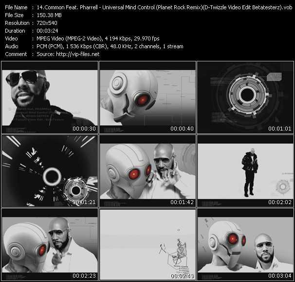 Common Feat. Pharrell Williams - Universal Mind Control (Planet Rock Remix) (D-Twizzle Video Edit Betatesterz)