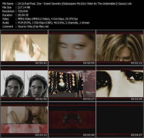 Dj Rad Feat. Zoe - Sweet Serenity (Klubjumpers Mix) (Isv Video By The Undeniable D.Gauss)