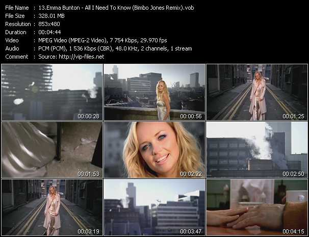Emma Bunton - All I Need To Know (Bimbo Jones Remix)