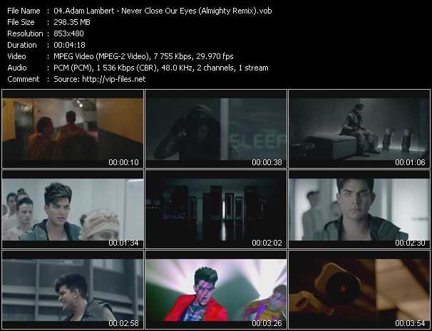 Adam Lambert - Never Close Our Eyes (Almighty Remix)