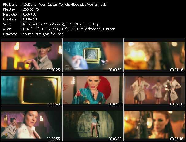 Elena (Elena Gheorghe) - Your Captain Tonight (Extended Version)