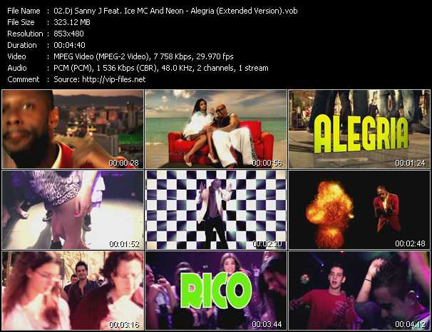 Dj Sanny J Feat. Ice MC And Neon - Alegria (Extended Version)