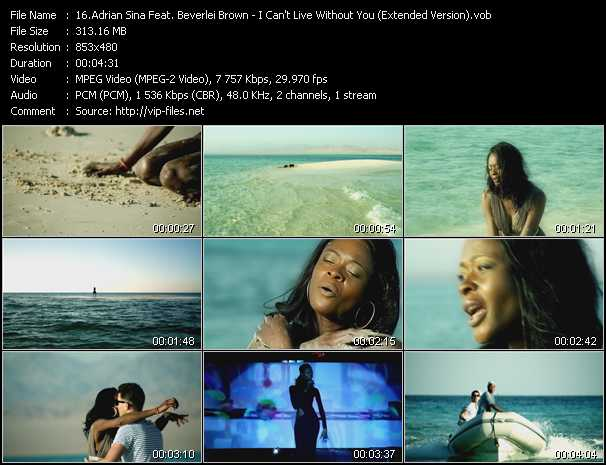 Adrian Sina Feat. Beverlei Brown - I Can't Live Without You (Extended Version)