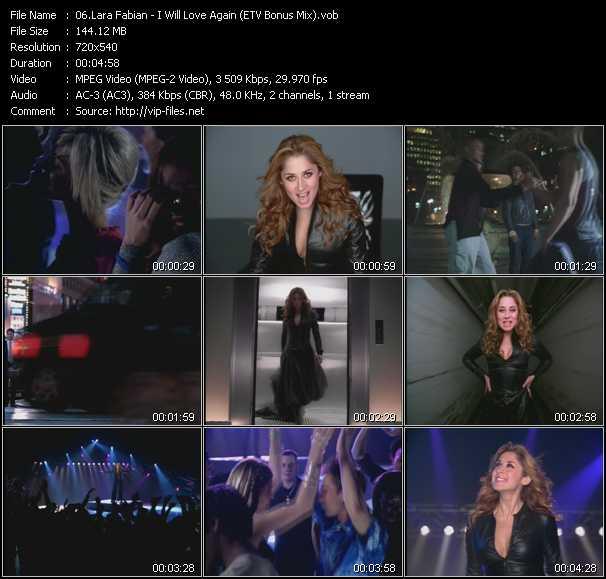 Lara Fabian - I Will Love Again (ETV Bonus Mix)