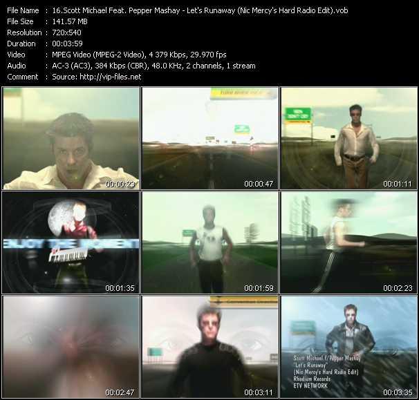 Scott Michael Feat. Pepper MaShay - Let's Runaway (Nic Mercy's Hard Radio Edit)