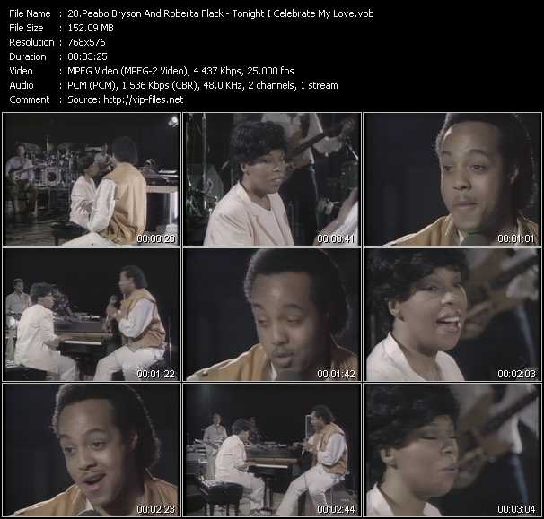 Peabo Bryson And Roberta Flack - Tonight I Celebrate My Love
