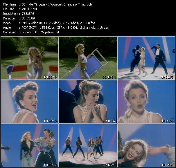 Kylie Minogue - I Wouldn't Change A Thing