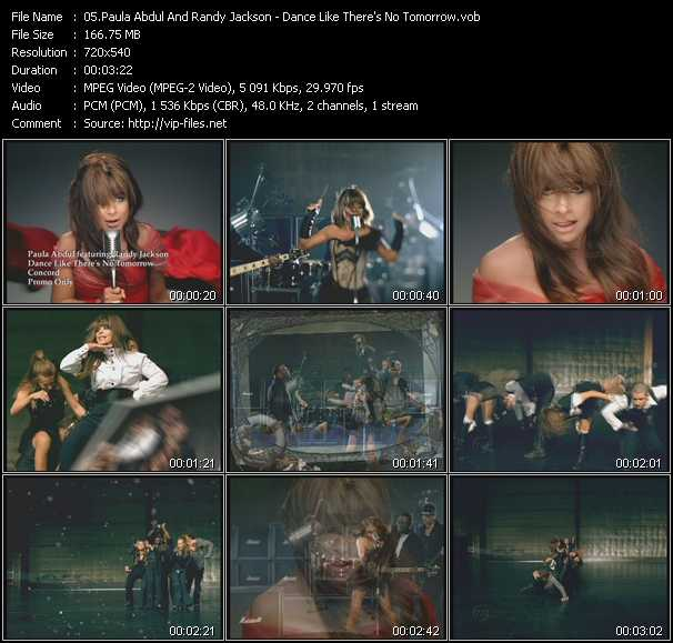 Paula Abdul And Randy Jackson - Dance Like There's No Tomorrow
