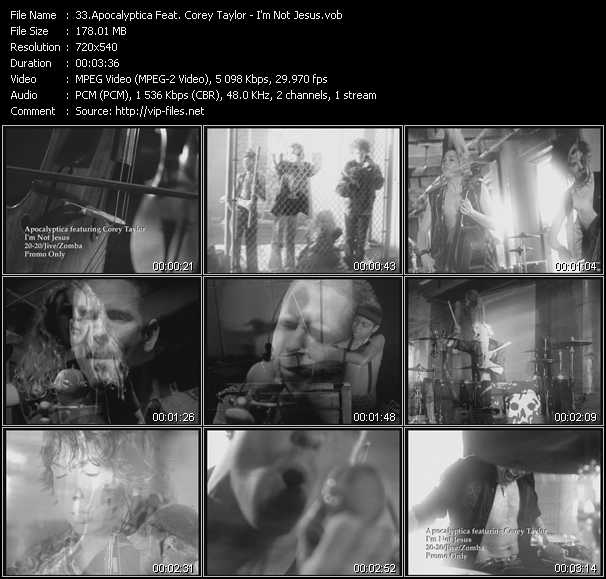Apocalyptica Feat. Corey Taylor - I'm Not Jesus