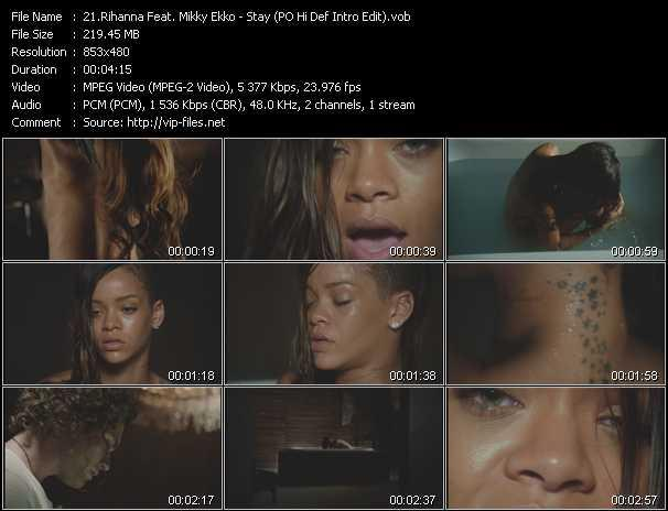 Rihanna Feat. Mikky Ekko - Stay (PO Hi Def Intro Edit)