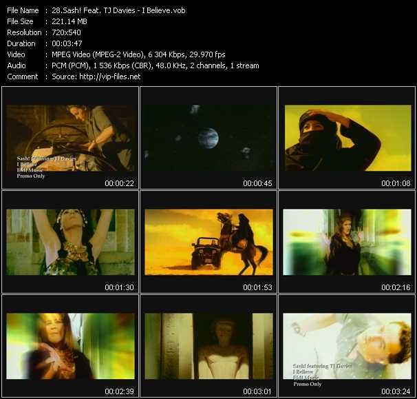 Sash! Feat. TJ Davies - I Believe