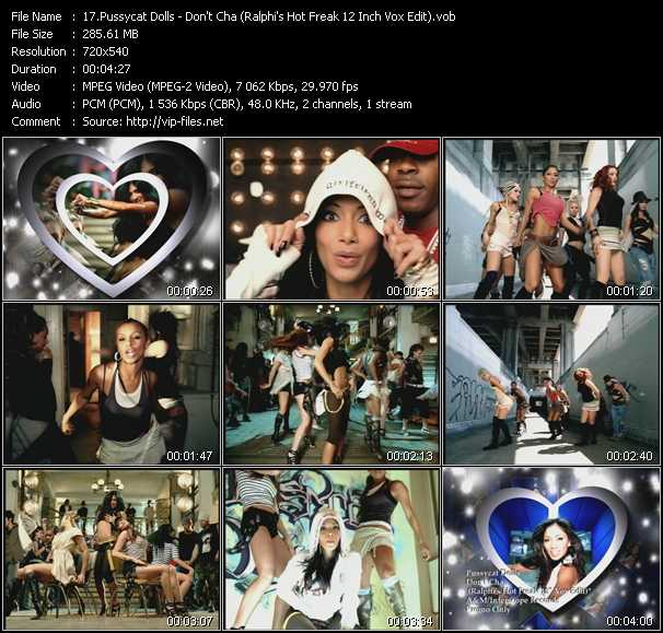 Pussycat Dolls - Don't Cha (Ralphi's Hot Freak 12 Inch Vox Edit)