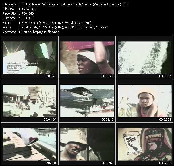 Bob Marley Vs. Funkstar Deluxe - Sun Is Shining (Radio De Luxe Edit)