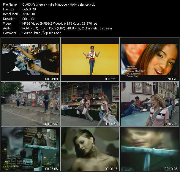 Yasmeen - Kylie Minogue - Holly Valance - Blue Jeans (Dance Mix Edit) - Come Into My World - Naughty Girl (K-Klass Klub Edit)