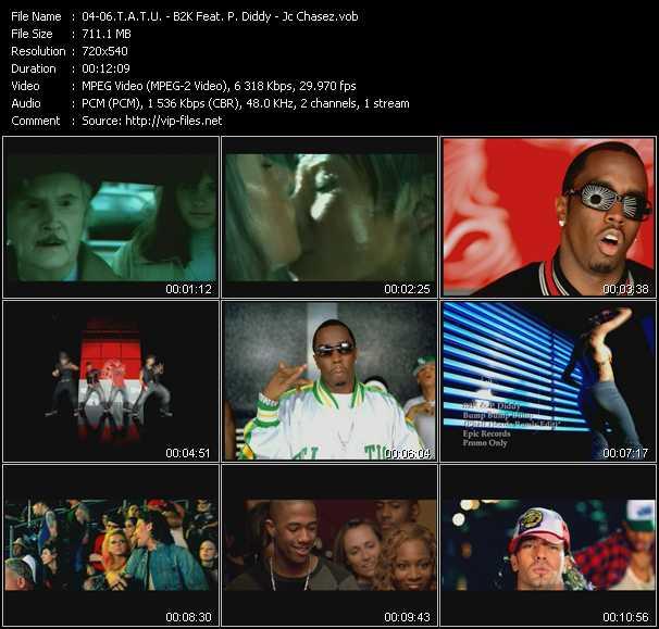 T.A.T.U. - B2K Feat. P. Diddy (Puff Daddy) - Jc Chasez - All The Things She Said - Bump Bump Bump (Phatt Heads Remix Edit) - Blowin' Me Up (With Her Love)