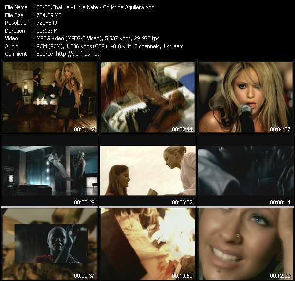 Shakira - Ultra Nate - Christina Aguilera - Objection (Tango) (Eric Kupper 12 Inch Club Edit) - Desire (Thunderpuss Club Anthem Edit) - Beautiful (Peter Rauhofer Edit)