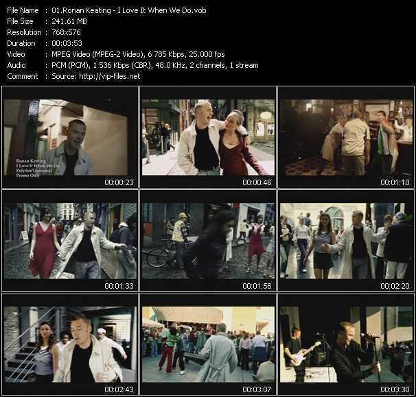 Ronan Keating - I Love It When We Do