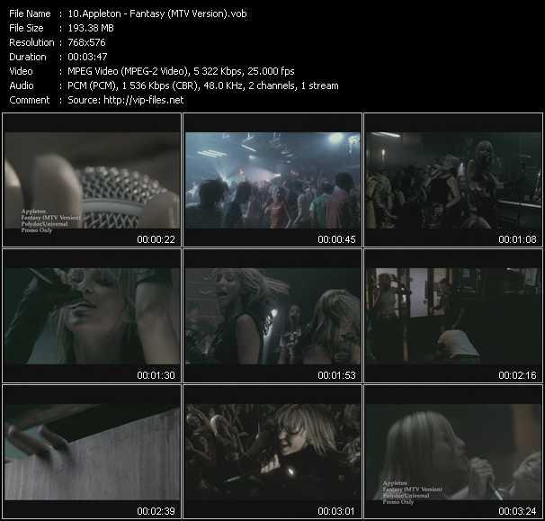 Appleton - Fantasy (MTV Version)