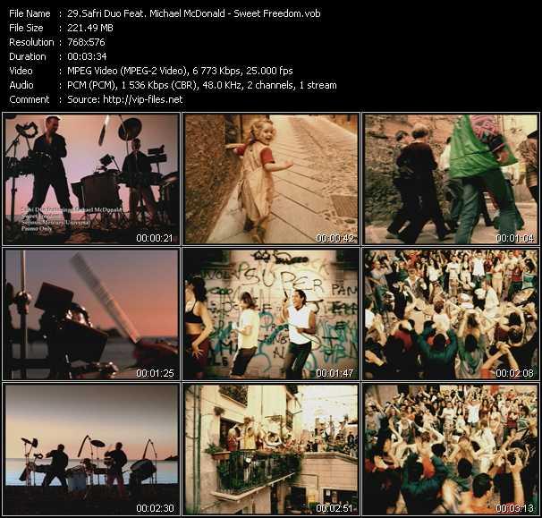 Safri Duo Feat. Michael McDonald - Sweet Freedom