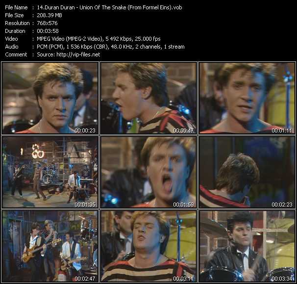 Duran Duran - Union Of The Snake (From Formel Eins)