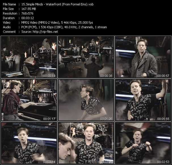 Simple Minds - Waterfront (From Formel Eins)