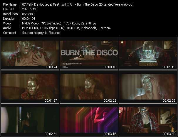 Felix Da Housecat Feat. Will.I.Am - Burn The Disco (Extended Version)