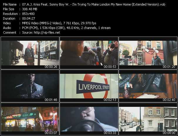 A.J. Kriss Feat. Sonny Boy W. - I'm Trying To Make London My New Home (Extended Version)