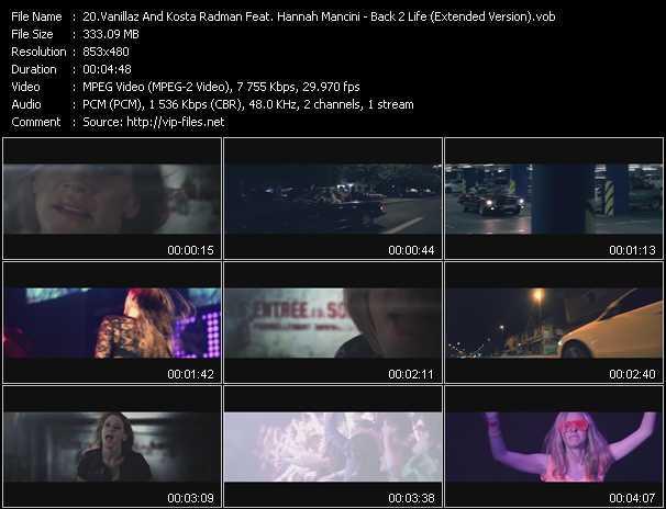 Vanillaz And Kosta Radman Feat. Hannah Mancini - Back 2 Life (Extended Version)