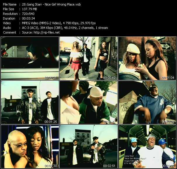 Gang Starr - Nice Girl, Wrong Place