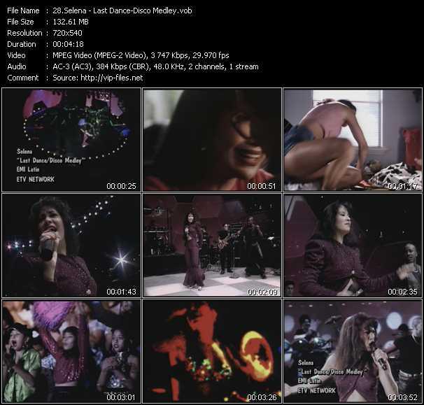Selena - Last Dance - Disco Medley